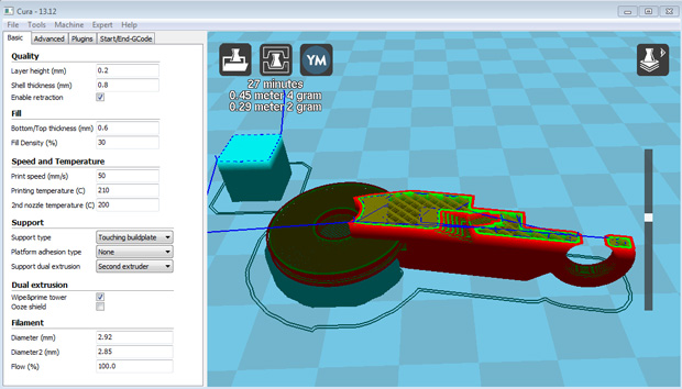 Slicer software per la stampa 3d guida base stampa 3d forum for Programma 3d semplice