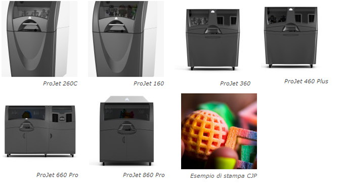 stampanti 3d systems color jet printing