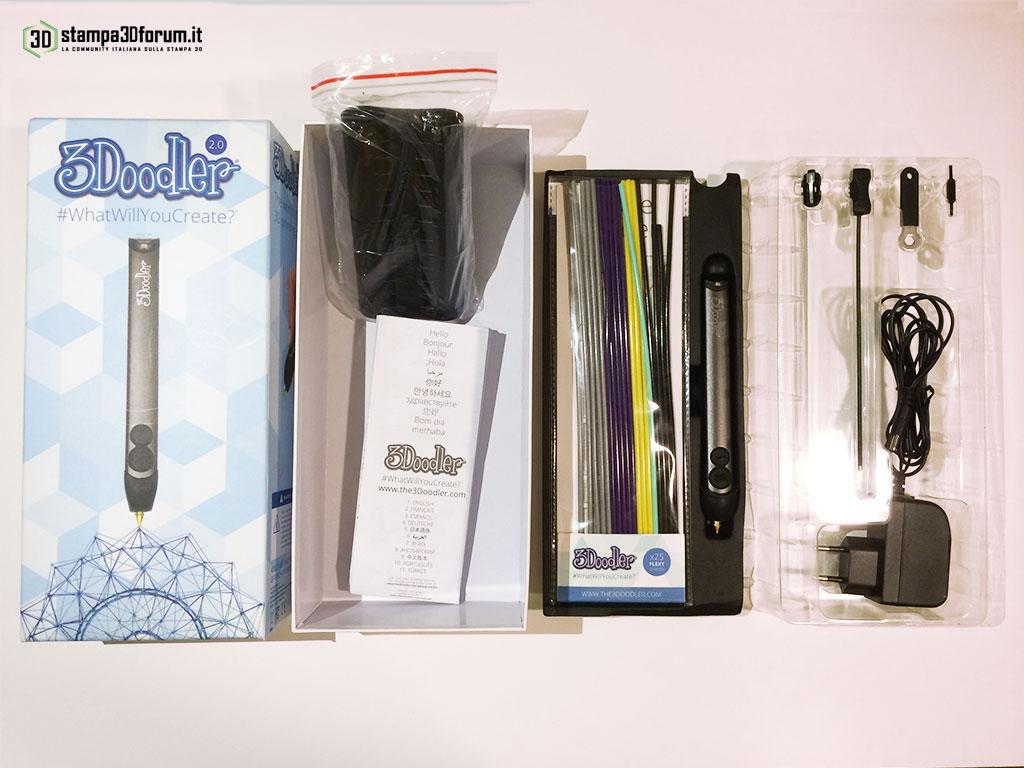 Recensione 3Doodler 2.0 penna stampa 3D 03