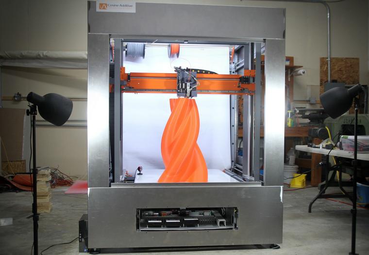 Cosine additive 3d printer