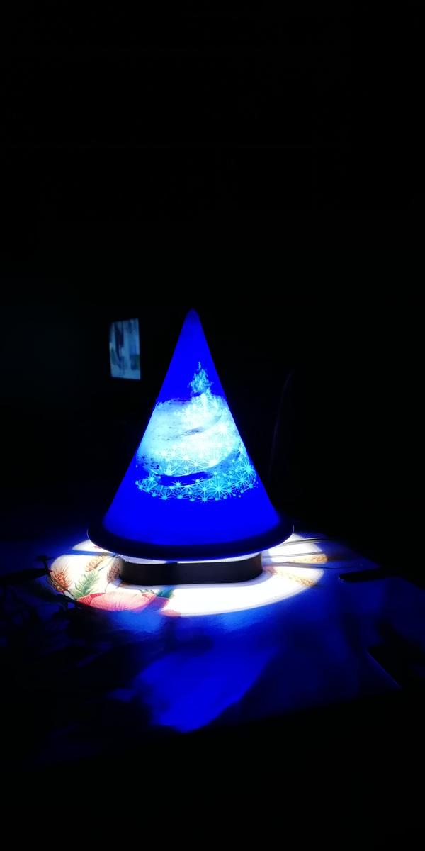 lampada natalizia in PLA blu Amazonbasic