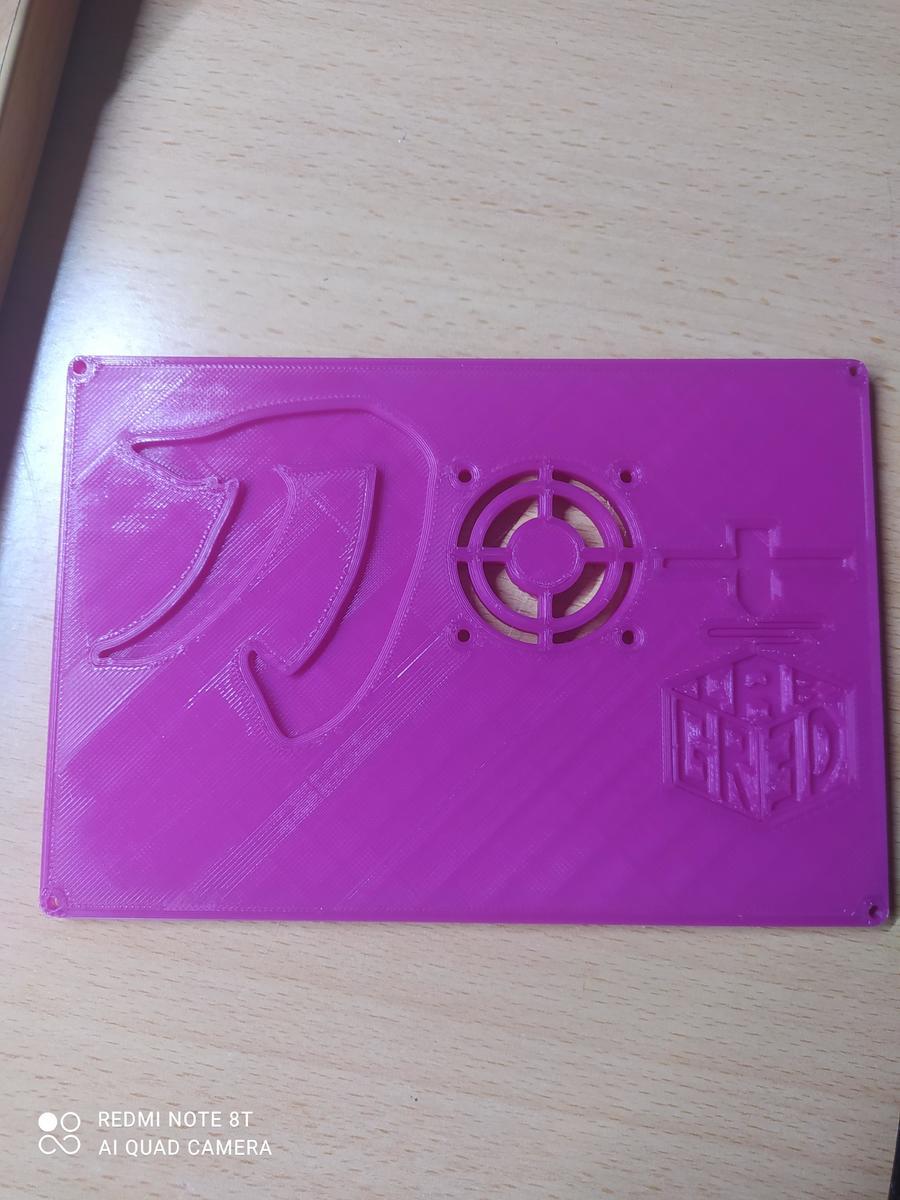 coperchio elettronica Katana in PLA viola Amazonbasic