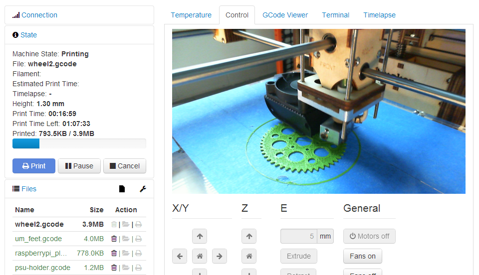 screenshot-controls octoprint