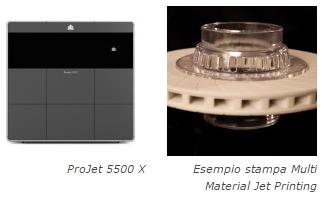 stampanti 3d systems multi material jet printing