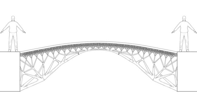 MX3D ponte in metallo stampato in 3D
