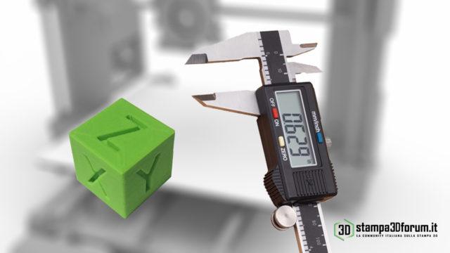regolazione step/mm Calibrazione assi X Y Z