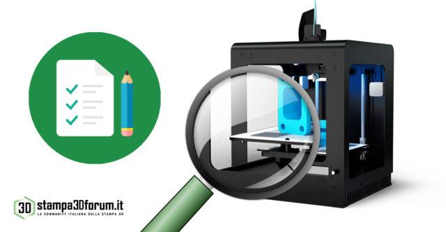 test stampante 3d